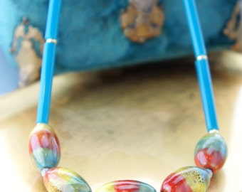 Bohemian Luxe Primary Colors Statement Necklace
