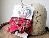 SALE >>>> Plaid//Flannel//Wire//Headband