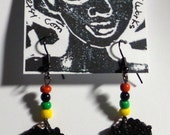 Wooden Afro Puff Fashion Earrings