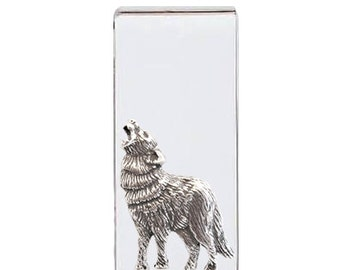 Howling Wolf sterling silver moneyclip Money Clip