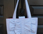 Ruffle Tote bag - PDF Sewing Pattern Instant Download - DIY Purse Tutorial