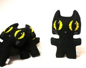 Black Cat Minou Kitty - Eco-friendly Felt Plush Kitty