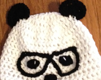 Nerdy Hipster Panda Beanie Panda Beanie Hipster Beanie