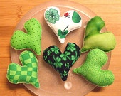 St. Patricks Day Heart Bowl Filler Decoration Ornaments Set of Six
