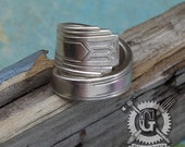 Friendship 1932 Spoon Ring - Handcrafted by Doctor Gus from Upcycled Vintage Silverware - Boho Style Sterling Silver Plated Spoon Jewelry