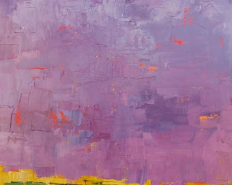 oil painting, landscape, Lavender, original, abstract