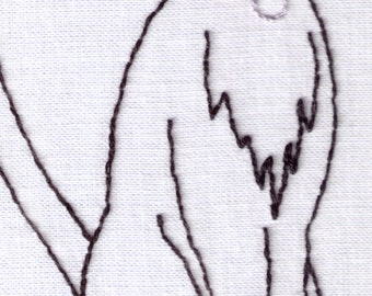 Cat Hand Embroidery Pattern, Cat with a Collar, Feline, Pet, PDF