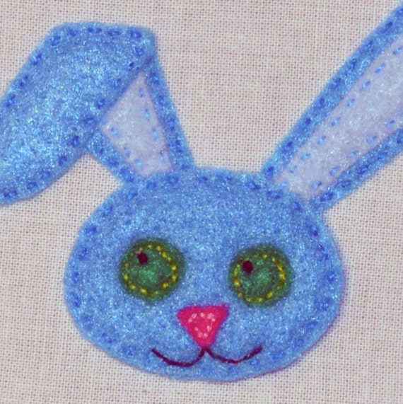 Bunny applique hand embroidery pattern rabbit cute easter