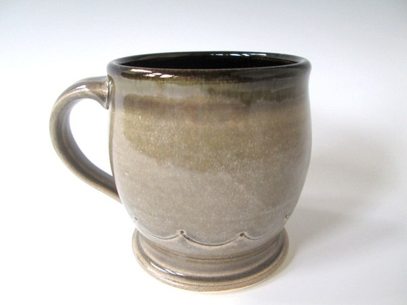 12 Ounce Smoky Grey Ceramic Coffee Mug