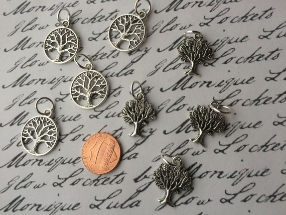 Tree of Life Heart of Forest Charms for Glowing Jewelry