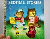 60s NOS Three Bedtime Stories Pictures by Garth Williams A Little Golden Book