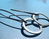 Oval odd earrings,minimal earrings,hook earrings, threader earrings