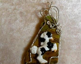 Wirewrap Gypsy Foal Horse, Pendant
