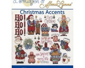 A Smidgen of Alman Lynne Christmas Accents Counted Cross Stitch Pattern Jeanette Crews 22177