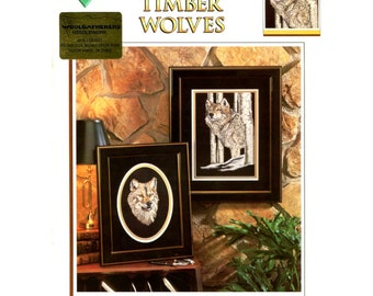Timber Wolves by Al Agnew - Counted Cross Stitch Pattern - Color Charts 10103