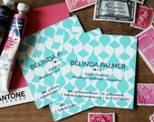 Teardrop Ikat  Calling Cards Single Sided / Business Cards/ Blogger Cards - Set (50)