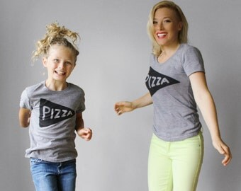 Mommy & Me Matching Outfit, Pizza Shirts, mom gift for women from kids, matching mommy daughter, funny gift for her, mother child