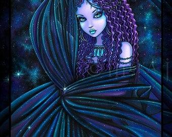 Nova Celestial Djinn Fairy Nebula Signed Fine Art Print