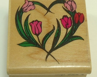 Tulips Wood Mounted Rubber Stamp By Rubber Stampede 522-C