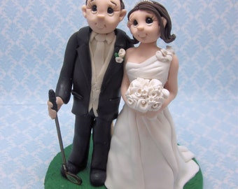 Golf Themed Wedding Cake Topper