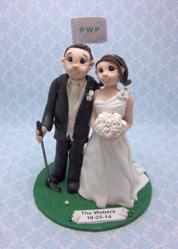 wedding cake toppers golf theme golf themed wedding cake topper 26482