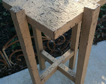 Vintage Old Crusty Chippy Paint Plant Stand or Small Table