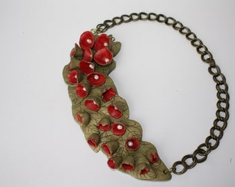 Polymer Clay Corsage necklace
