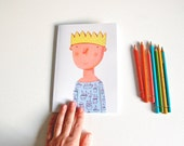 Prince and Princess Notebook with blank pages