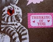 Valentine Tag, Love Tag, Funny Valentine,  Love, Prisoner of Love, Heart, Romantic, Vintage Photo, Valentines Day, Valentine Card, ofg team