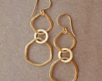 BRUSHED LINK Earrings