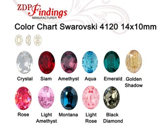 4pcs x Oval 14x10mm Swarovski® Crystals 4120, Choose Your Color (S41201410)