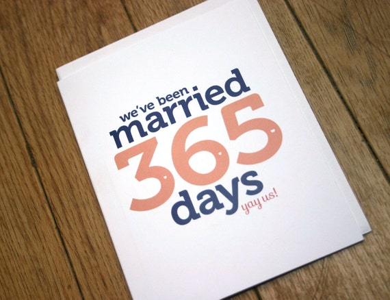 First wedding anniversary card paper by