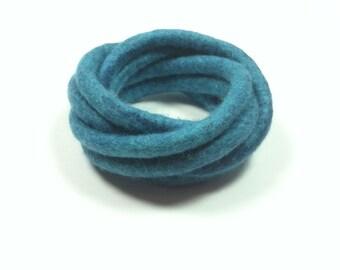 Turquoise Felted Bracelet / Multicolor Bracelet / Modern Bracelet / Yoga / from Twisted Felt Collection