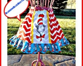 Dr Seuss skirt Cat in the HAT girls 4t 5 6 7 8 10 12 ready to ship