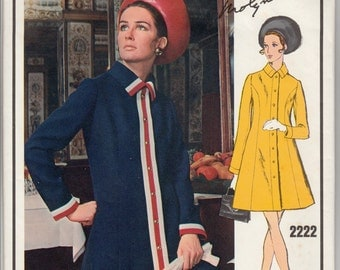"""Vintage Sewing Pattern Vogue 2222 Paris Original Molyneux Coat 34"""" Bust - Free Pattern Grading E-book Included"""
