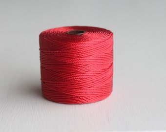 S-Lon Bead Cord Shanghi Red 77 Yards