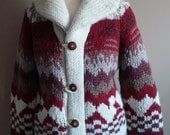 Gorgeous and Unique Boho Mexican Handknit Sweater Jacket