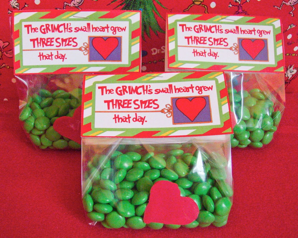 Grinch Favor Bag Tag Printables DIGITAL The by chicaandjo
