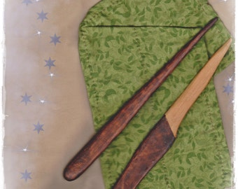 "Athame - Wand - Wiccan - Wicca - Pagan - Witch - Wizard - ""La Petite Sorcellerie"" Prim All Cedar Wood OOAK"