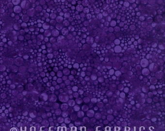 Circles Purple Blender Hoffman Fabric 1 yard