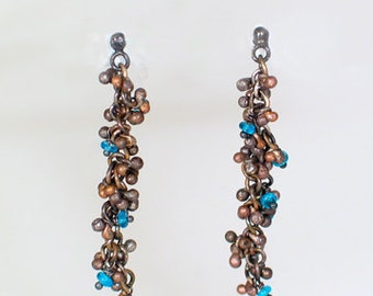 Balled Earrings with Apatite