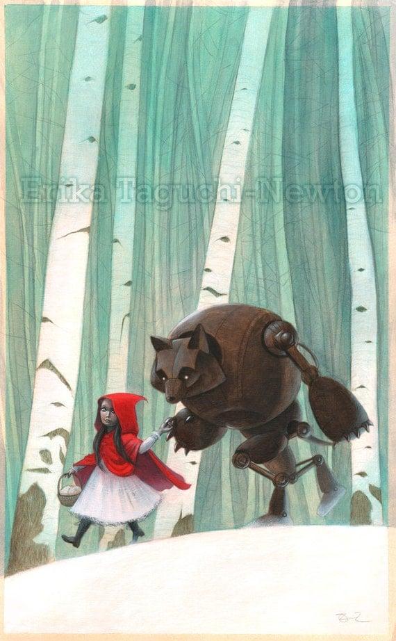 Red Riding Hood - Fine Art Print