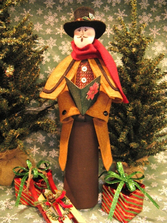 Cloth Doll E-Pattern Victorian Christmas Male Caroler