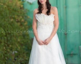 Bridal Veil Set, Tulle Head Wrap with Tremeka Rhinestone and Pearl Headpiece, Wedding Veil, Bohemian Headband