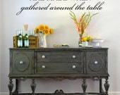 Fondest Memories Made When Gathered Around The Table Lg Wall Art in Words Stickers Vinyl lettering Decals