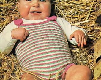 Baby Knitting Pattern, Baby Romper Knitting Pattern, 3 ply Knitting Pattern, INSTANT Download Pattern PDF (2321)