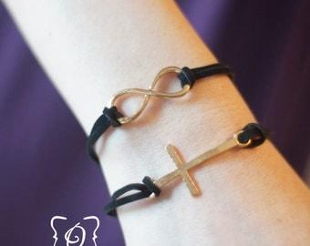 Infinity or Cross Bracelet