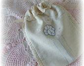Gift Bag Jewelry Holder Vintage Linen Gift Card Holder