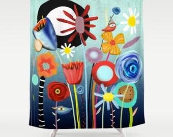 Shower Curtain 2015  -  Floral bath curtain