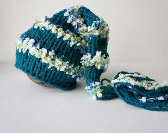 Baby Hat, Newborn Stocking Hat, Newborn Photo Prop, Newborn Baby Hat, Stocking Hat, Knit Baby Hat